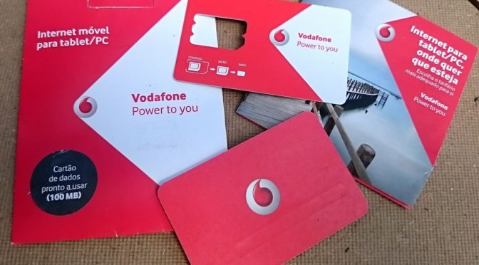 UPDATE: Mobiles Internet in Portugal über Vodafone-Portugal